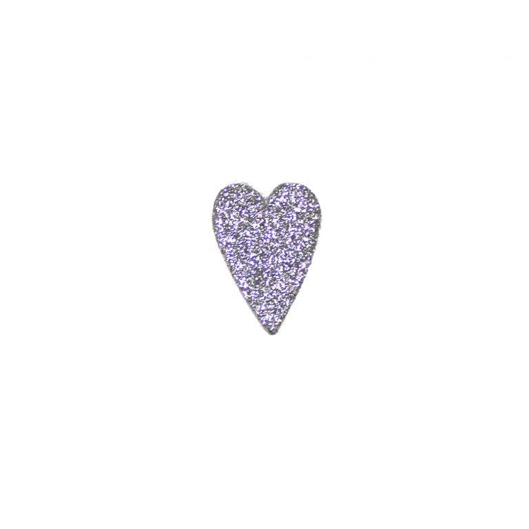 formine argento cuore lungo