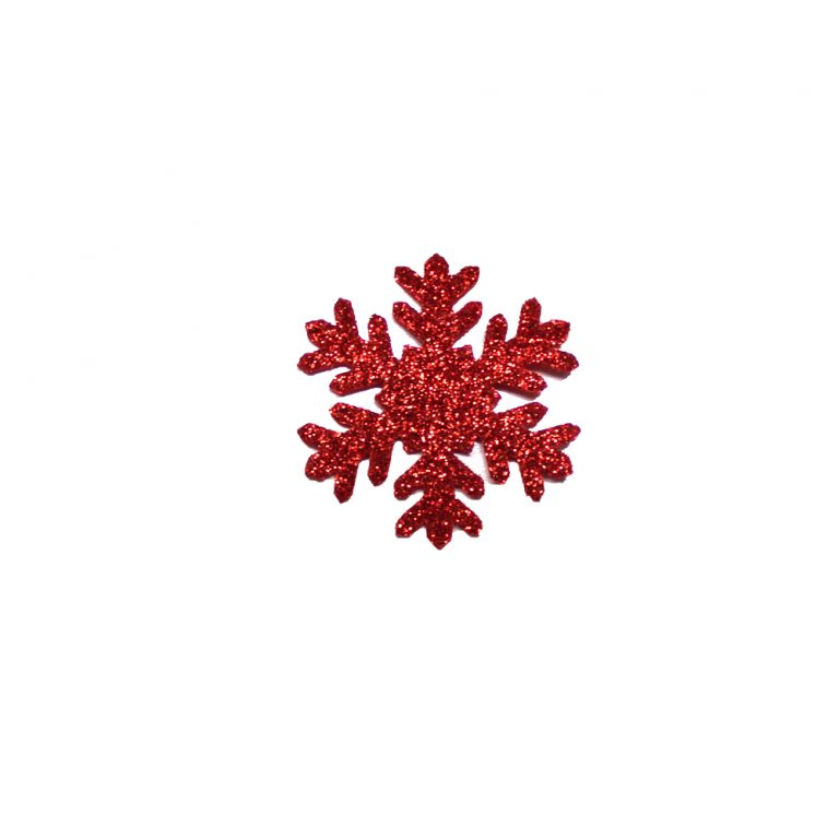 formine rosse fiocco neve