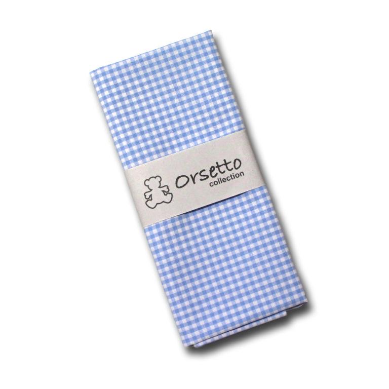 cotone azzurro quadretti