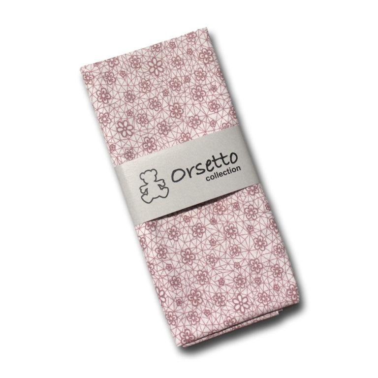 cotone fiori e righe rosa