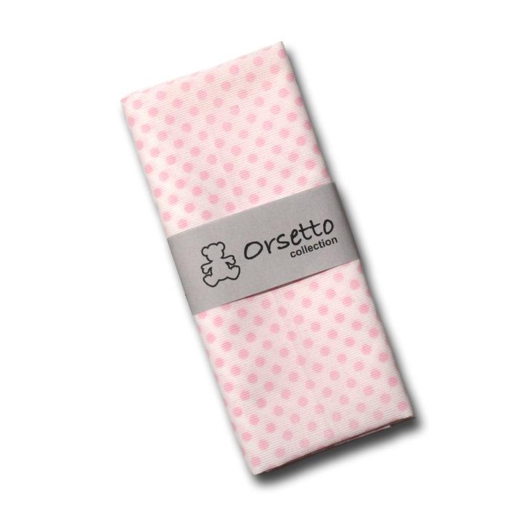cotone rosa pois sf bianco